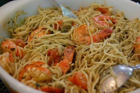 Shrimp And Pasta With Pesto Sauce Pinoy Food Recipes