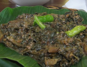 Bicol Laing – Gabi/Taro Leaves Cooked in Coconut Milk