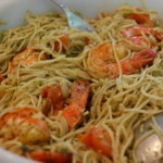 Shrimp  and Pasta with Pesto Sauce