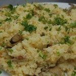 Risotto with Chorizo and Mushrooms alla Parmigiana