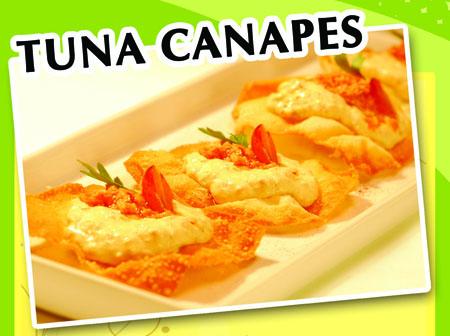 tuna canapes
