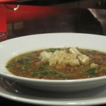 U.S. Lentil Soup with Pork Cracklings