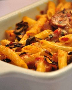 baked penne with eggplant & sausage2