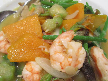 Ginataang hipon at gulay vegetables in coconut milk for Take me fishing org