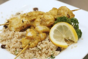 CREAM DORY TANDOORI WITH RAISIN COUSCOUS