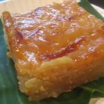 Bibingkang Kamoteng Kahoy (Cassava Cake with Egg Topping)