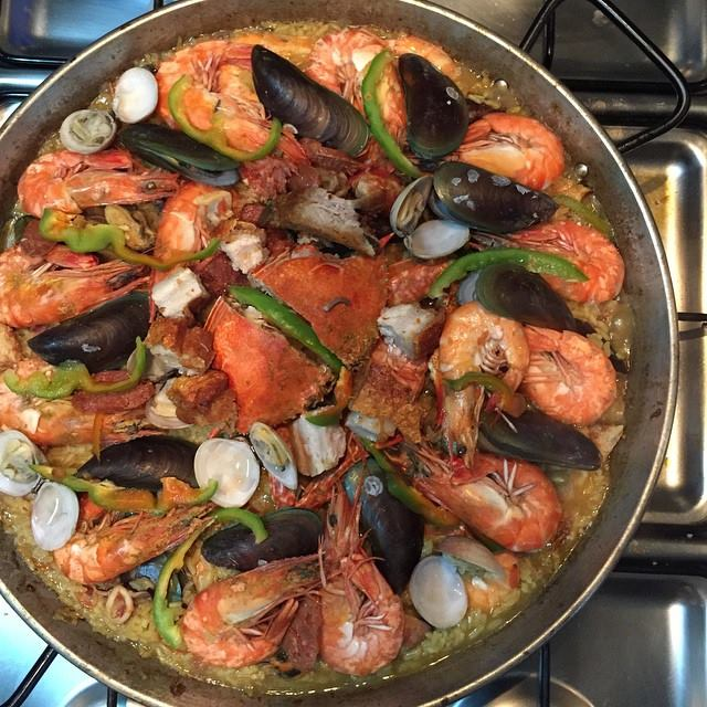 Paella filipino style for christmas or noche buena pinoy food recipes paella filipino style forumfinder