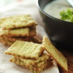 Herbed Parmesan crackers
