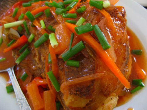 Lapu lapu grouper escabeche sweet and sour sauce for Filipino fish recipes