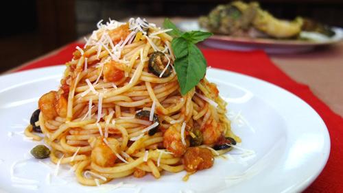 Home cooked meal ideas: Shrimp Putanesca
