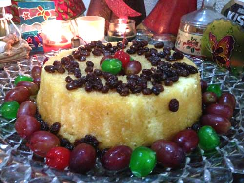 maple rum cake-decors