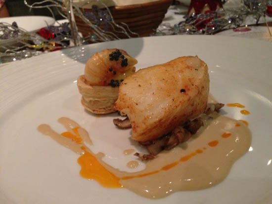 Pimenton infused Oil Poached Fillet of Seabass