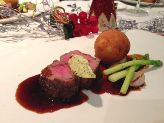 Roast Eye of Rib Eye Steak with #anchormaple Cafe de Paris Braised Short Rib filled Fried Potatoes