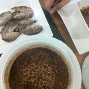 Champorado (chocolate rice porridge) on a rainy day