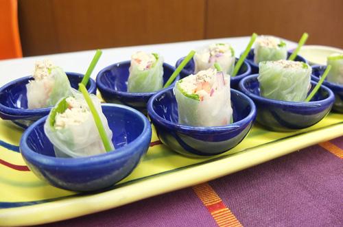 fresh smoked fish spring rolls 1