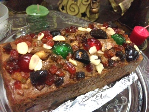 golden fruitcake made by me