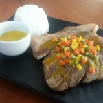 Back to School recipe: Pork steak with Honey Mustard Sauce