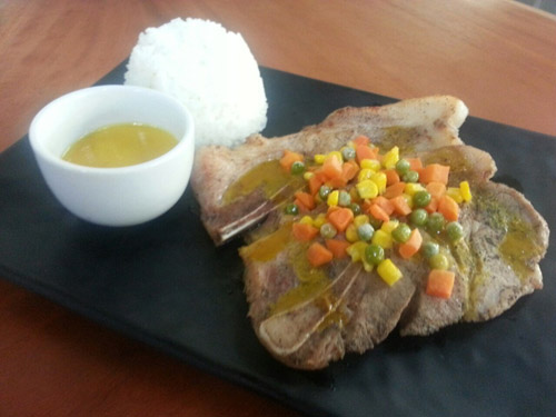 Pork Steak with Honey Mustard
