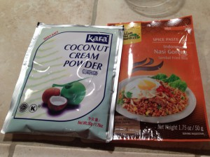 Kara Coconut Powder & Asian Home Gourmet Spice Paste for Nasi Goreng