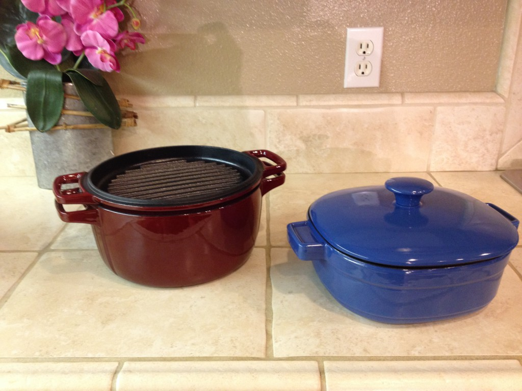 KitchenAid® Cast Iron Casserole Cookware with Lid-as-a-Grill