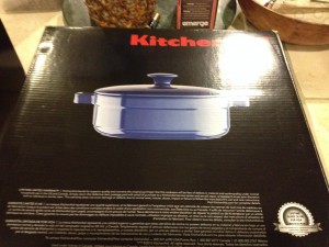 KitchenAid® Streamline Cast Iron 3-Quart Casserole (blue color)