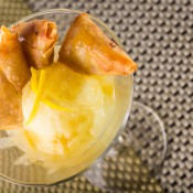 Tropical pineapple filled Turon