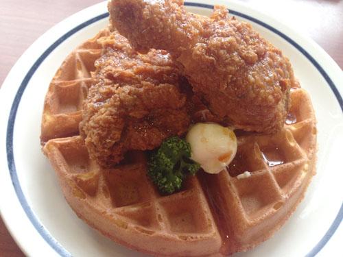 Sriracha Chicken and Waffle