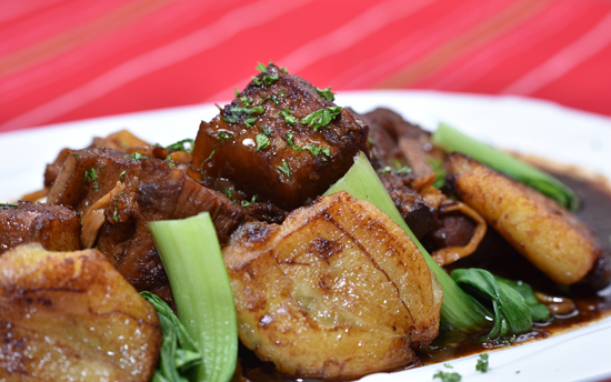 Humba, a Visayan staple dish of stewed pork in soy sauce, vinegar & sugar.