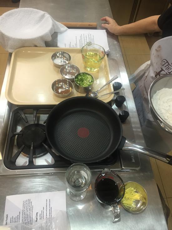 ingredients for scallion pancakes
